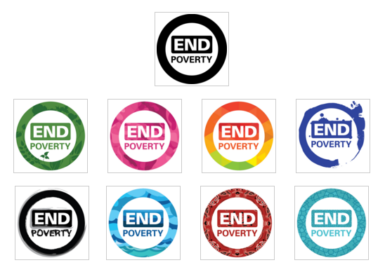 End poverty- logos